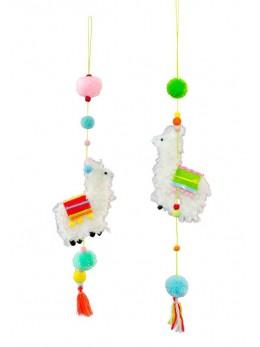 Suspension Lama multicolore