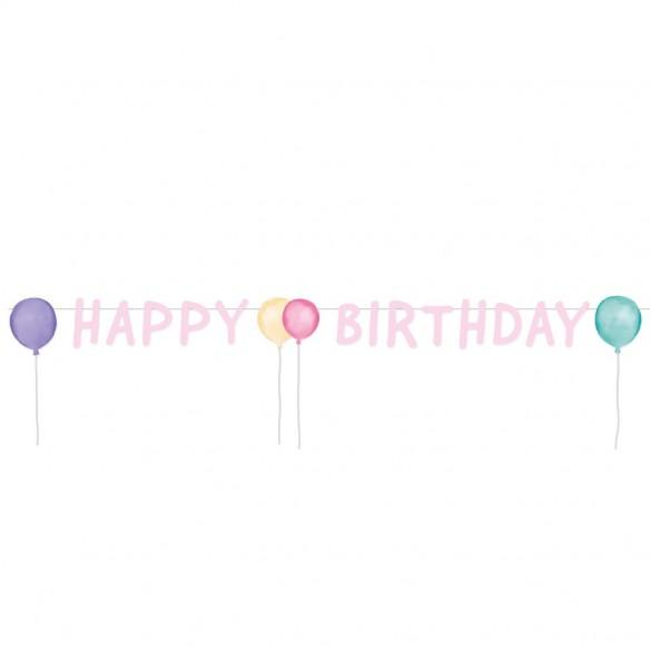 guirlande Lettres Happy Birthday