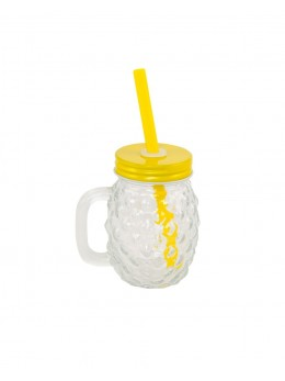 Mini Ananas verre avec paille