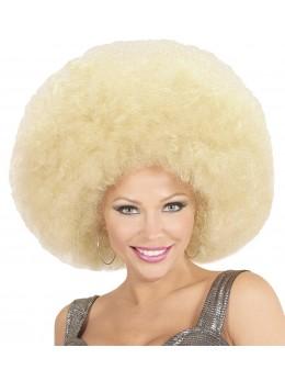 Perruque afro géante blonde