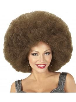 Perruque afro géante marron