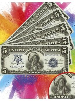 18 Billets dollar Indien
