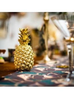 Déco ananas doré 18cm