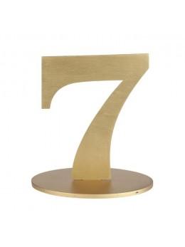 Marque table chiffre 7 doré