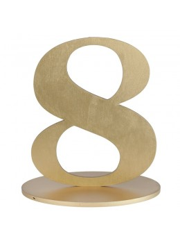 Marque table chiffre 8 doré
