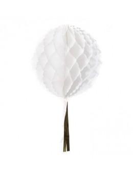 Boule papier blanc 30 cm avec tassel