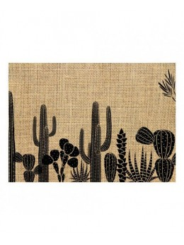 Set de Table Toile de Jute Cactus