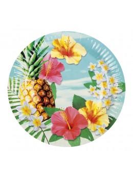 6 Assiettes ananas paradise 23cm