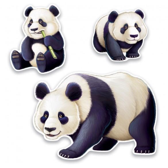 3 Décos carton Panda