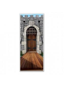 Déco de porte donjon chateau médiéval