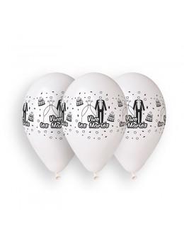 10 Ballons 30cm Vive les mariés cérémonie Blanc