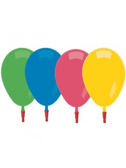 10 Ballons siffleurs multicolores 20cm