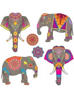 Lot de 6 déco éléphant