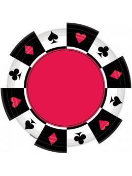 8 Assiettes Casino 18cm
