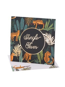 8 Invitations Jungle Fever Degrade De Vert Et Dorure