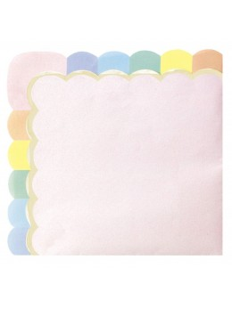 16 Serviettes papier berlingot rose pastel