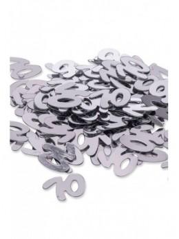 Confetti Anniversaire 70ans argent