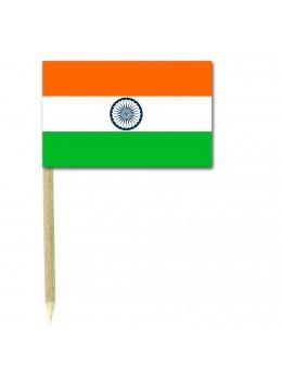 50 Mini drapeaux luxe Inde