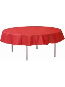 Nappe ronde intissé rouge