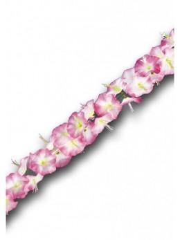 Guirlande Hawaï Fleurs Hibiscus Rose