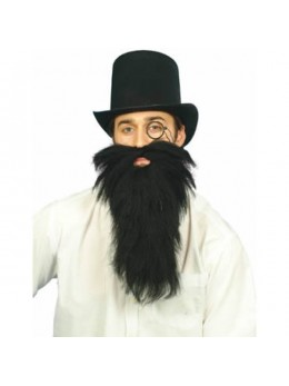 Barbe noire longue