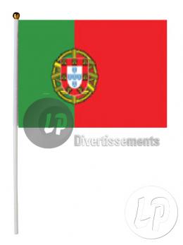12 drapeaux portugal tissu 15x23cm