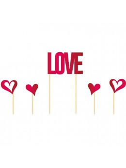 5 pics Love et coeurs