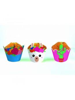 6 Cupcakes Baby Lama