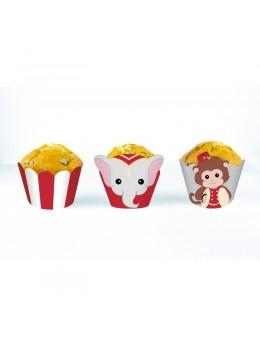 6 Cupcakes Baby Cirque