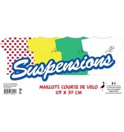 Lot de 6 suspensions Maillot Course de Vélo