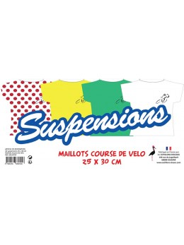 Lot de 6 suspensions Maillot Course de Vélo