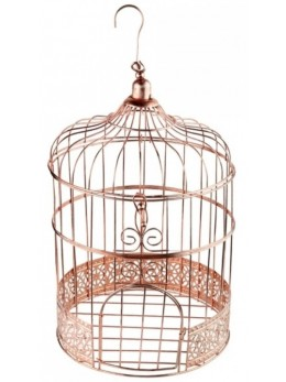 Tirelire cage or vintage 31cm