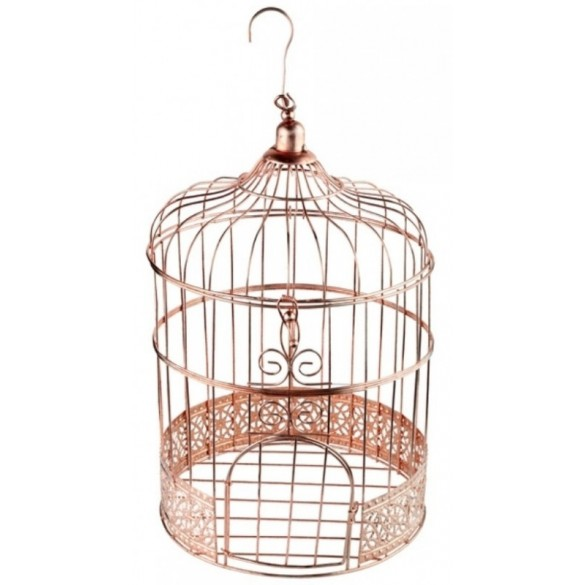 Tirelire cage or vintage 31cm