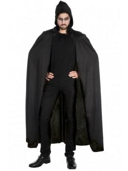 cape longue tissu noire