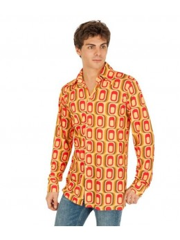 déguisement chemise seventies carreaux