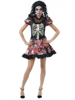 déguisement robe day of the dead