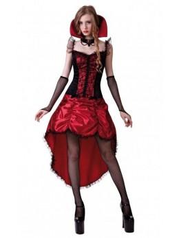 déguisement robe cabaret rouge