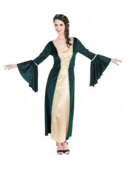 déguisement princesse médiévale verte