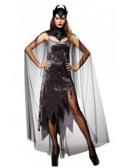 déguisement cape col reine noire