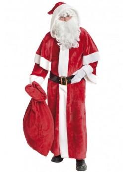 déguisement manteau Père Noël peluche