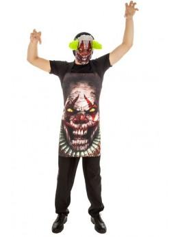déguisement masque et tablier clown psycho