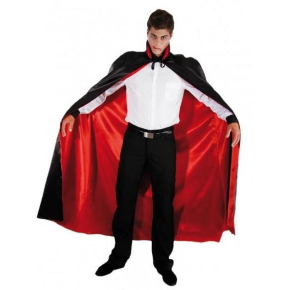 déguisement cape dracula rouge et noire