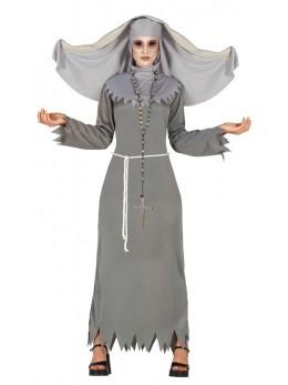 déguisement religieuse grise