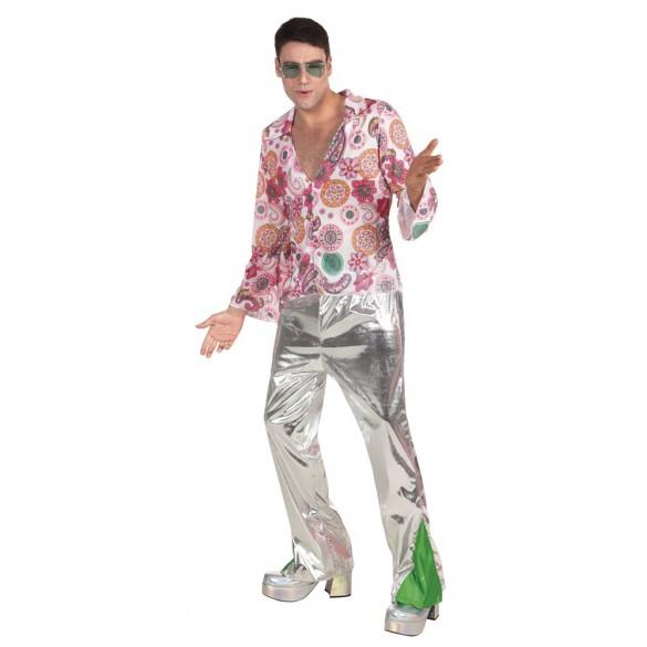 déguisement homme disco argent