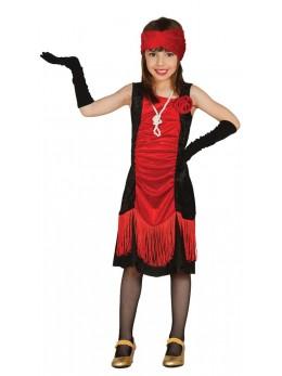Déguisement robe charleston rouge et noire