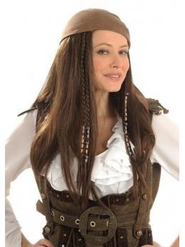 Perruque Piratesse bandeau