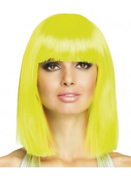 Perruque dance fluo jaune