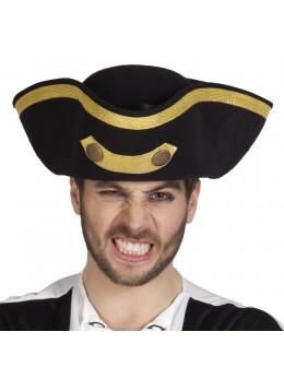 Tricorne  pirate deluxe