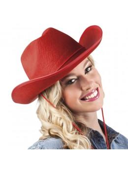 Chapeau cowboy feutre rouge