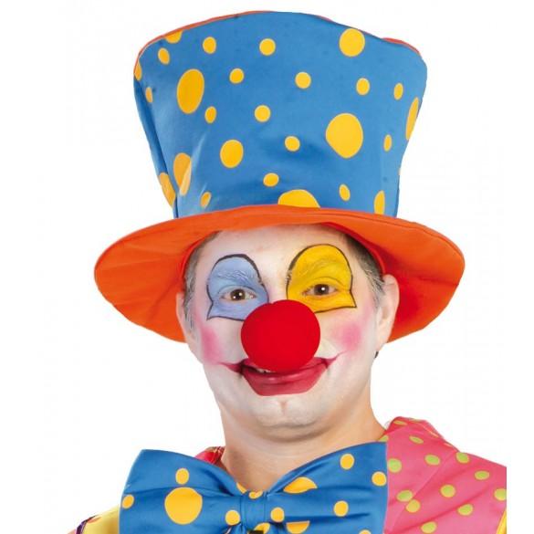 Chapeau de clown bleu et orange